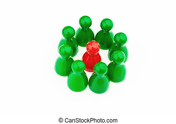 individuality within the team be different - red and green...