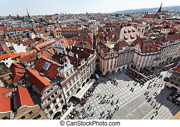 prague, old town square, cityscape - prague, old town...