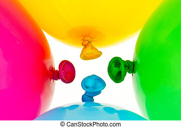 colorful balloons symbol of lightness, freihe - different...