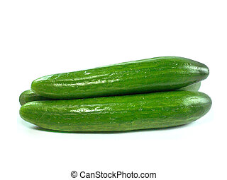 Fresh Cucumber over white background