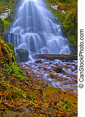 Spectacular Falls - Vivid colorful falls upstream from...