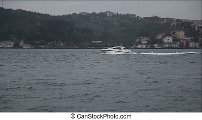 speed boat 4 HD 1080p - speed boat passing under the...