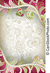 Abstract Curve Floral - Illustration of abstract floral...