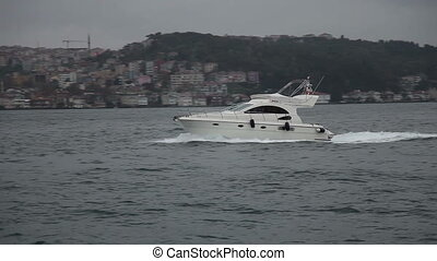 speed boat 3 HD 1080p - speed boat passing under the...