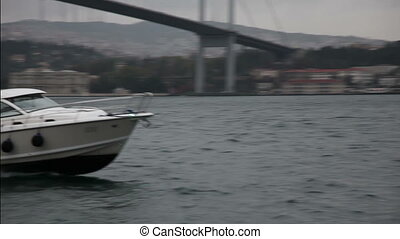 speed boat 2 HD 1080p - speed boat passing under the...