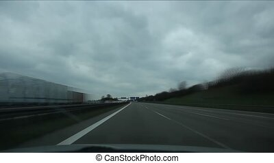 Driving in german autobahn POV