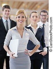 empresa / negocio, mujer, posición, ella, personal,...