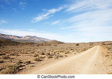 Suciedad, camino, Árido, región, primero,...