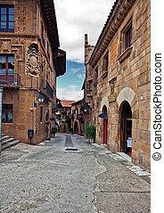 Poble Espanyol (traditional architectural complex) in...
