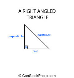 right angled triangle - labelled diagram of right angled...