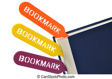 Bookmark your book - Colorful bookmarks your book on white