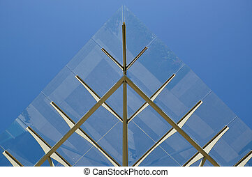 Metal and glass roof