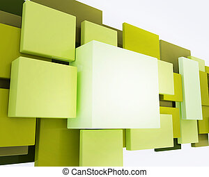 3D rendering for abstract backgroun