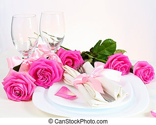 Romantic Dinner for Two in Pink