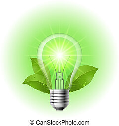 Energy saving lamp Illustration on white background for...