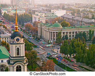 Donetsk from a height - Donetsk city - aerial view