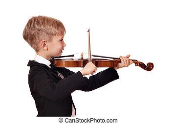 boy little violinist