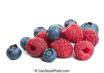fresh berries isolated