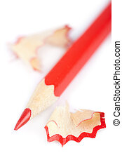 red pencil isolated