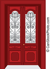 Antique door vintage style