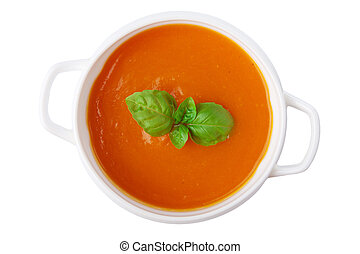 pumpkin soup isolated