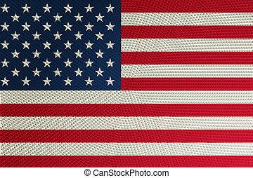 Halftone USA flag