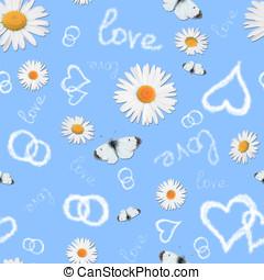 Seamless pattern - Beautiful romantic seamless pattern with...