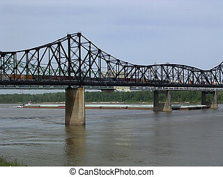 Mississippi Vicksburg 2003 - Bridge over the Mississippi...