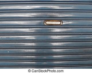 steel roll up door with mailbox