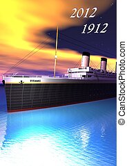 Titanic 1912-2012 and sky yellow