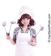 happy cook woman