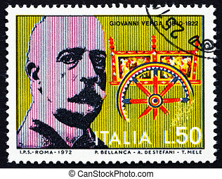 Postage stamp Italy 1972 Giovanni Verga, writer and...