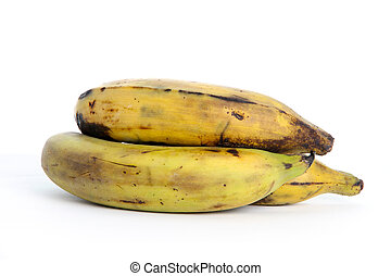 Plantain Pile - Pile of Plantains Isolated on a White...