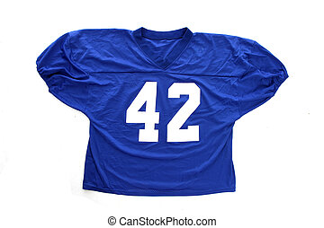 Football Jersey - Football jersey laying against a white...