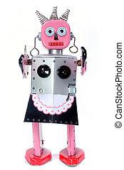 少女, 玩具, 機器人