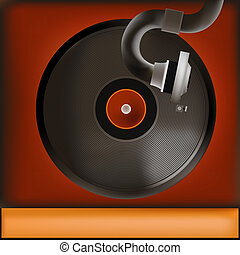 Vintage Record Player Background - Background illustration...