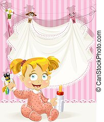 baby girl pink openwork announcement card with girl and bottle of milk(0).jpg