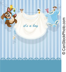 baby boy blue openwork announcement card0jpg - baby boy blue...