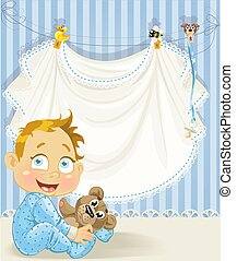 baby boy blue openwork announcement card with baby character(0).jpg
