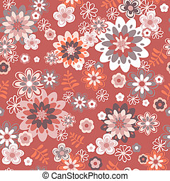 seamless vintage flower pattern background. Vector...
