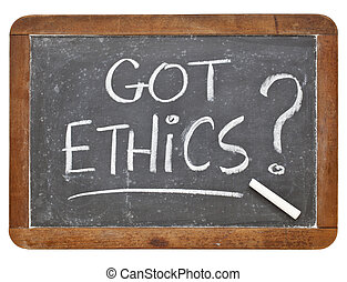 Got ethics question - white chalk handwriting on a vintage...