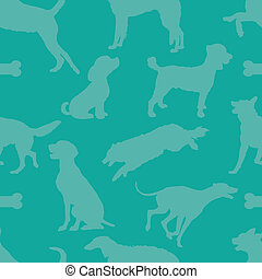 Doggie Style - A seamless pattern comprised of dog...