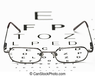 Distance Vision Test - glasses and eye test chart ,for...
