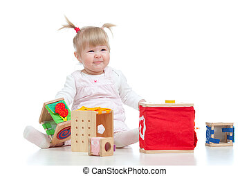 pretty baby with color educational toy