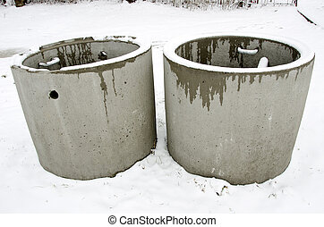 Concrete manholes in winter waste water treatment - Concrete...