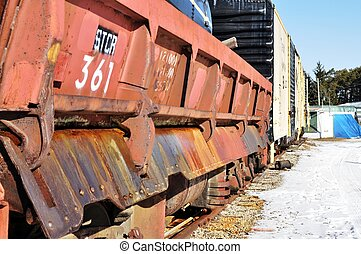 the train yard - train car