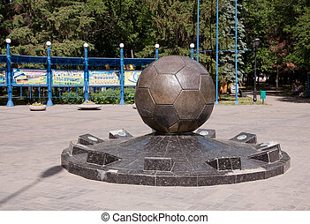 Monument to ball in Kharkov, Ukraine - Monument to ball in...