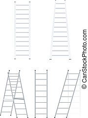 Set ladders. Vector