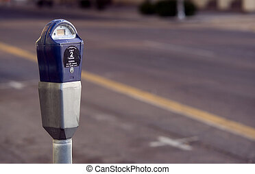 Parking Meter in the city