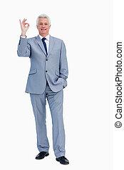 Portrait of a businessman praising